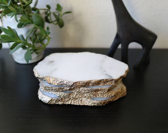 Rough Edge Marble Coasters