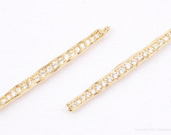 P652-G// Gold Plated Cubic Bar Pendant, 1pc