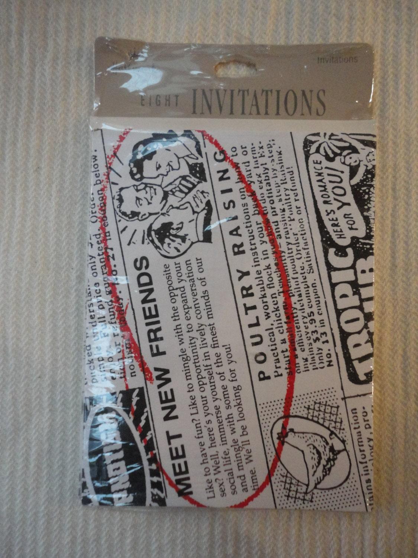 Vintage hallmark invitations meet new friends 2 unopened packs 16 700 solutioingenieria Images