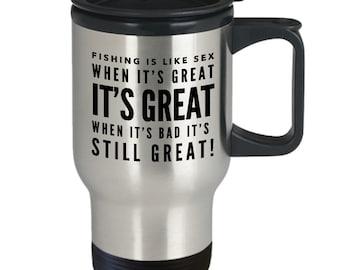 Fishing mug  fishing travel mug  funny fishing mug  gift for fisherman