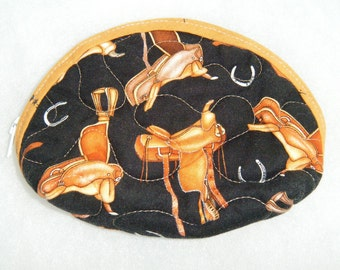 Small Quilted Purse - Western saddles