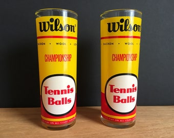 Pair of Wilson Tennis Balls Drinking Glasses