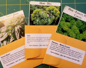 Heirloom Seeds - Herb Trio