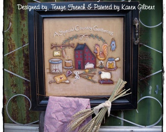 A Special Gathering by Karen Gilbert for Painting with Friends, E-Pattern