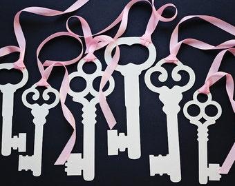 Alice in Wonderland Party Decoration Prop- 6 Large  Intricate Skeleton Keys