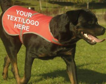 Personalised Custom Printed High Vis Hi Viz Dog Pet Roadside Safety Vest Reflective Coat Tumblr Pintrest Trends
