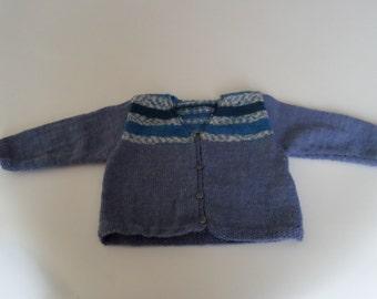 Boy blue gray vest