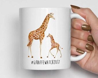 Giraffe Watch 2017 Mug, Giraffe Coffee Mug, April The Giraffe, Birthday Gift, Funny Coffee Mugs (0037)