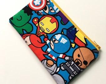 Zipper Pouch Pencil Case - Marvel Heroes (blue)