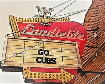 Go Cubs neon sign art