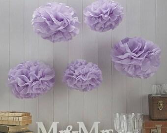 Vintage Lace - Tissue Paper Pom Poms - various colours available.