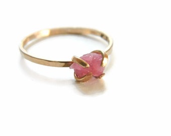 Tourmaline Ring, Rose Tourmaline Ring, Promise Ring, Engagement Ring, Pink Tourmaline Engagement Ring, Tourmaline Jewelry, Anniversary Ring