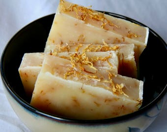 lemon verbena soap / natural soap / essential oil soap / handmade soap / moisturizing soap / Halifax / calendula soap / cold process soap