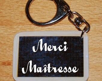 Keychain style slate of school thank you teacher - teacher gift
