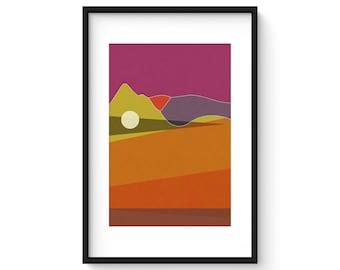 LANDSCAPE & BEYOND no.267 - Abstract Modern Minimalist Landscape Mid Century Style Art Print