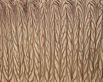 Marbling paper Art Forest role marbled