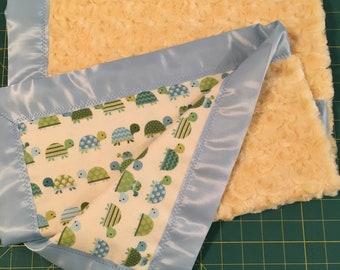 Yellow Minky Baby Blanket