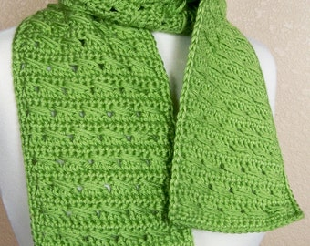 Crochet Scarf Pattern: Luck o' the Irish Scarf, PDF download