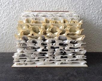 "Book Art Sculpture ""Stormy sea"""