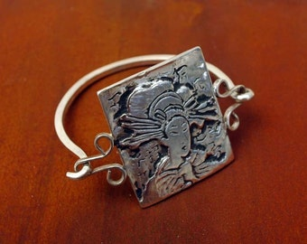 Geisha Tension Style Bracelet in Sterling Silver