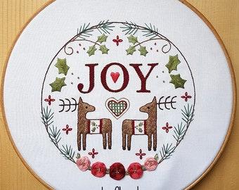 Christmas Joy Embroidery Pattern
