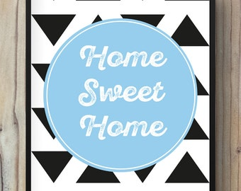 poster home sweet home illustration print
