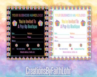 Lularoe invitation etsy boutique invitation cards pastel cupcakes design marketing llr stopboris Images
