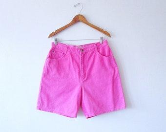 Wms Vintage 90's High Waisted PINK Denim St. John's Bay Jean Shorts Size 14