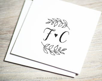 Wedding monogram • Save the Date personalized design • Template logo