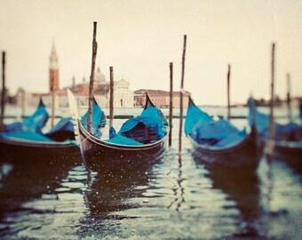 Gondolas, Venice Photography, Italy Art Print, Large Wall Art, Grand Canal, Italian Wall Decor, Home Decor, Travel Photo Gift - Sploosh