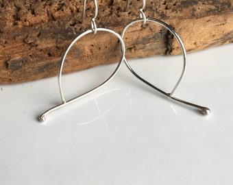 50% OFF Sterling Silver Hoops, Big Hoops, Large Hoops, Everyday Hoops, Artisan Earrings, Minimal Earrings, Modern, Simple Earrings