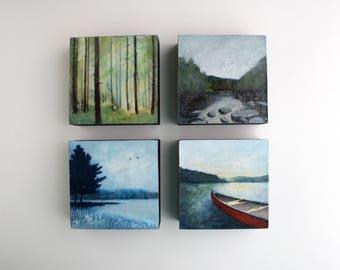 Adirondack Painting - 4 x 4 - Choose One