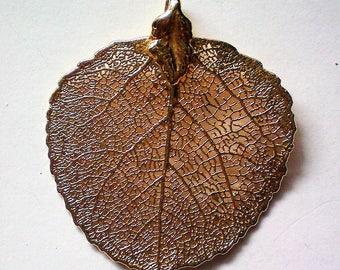 Colorado Gold Plated Aspen Leaf Pendant - 5571