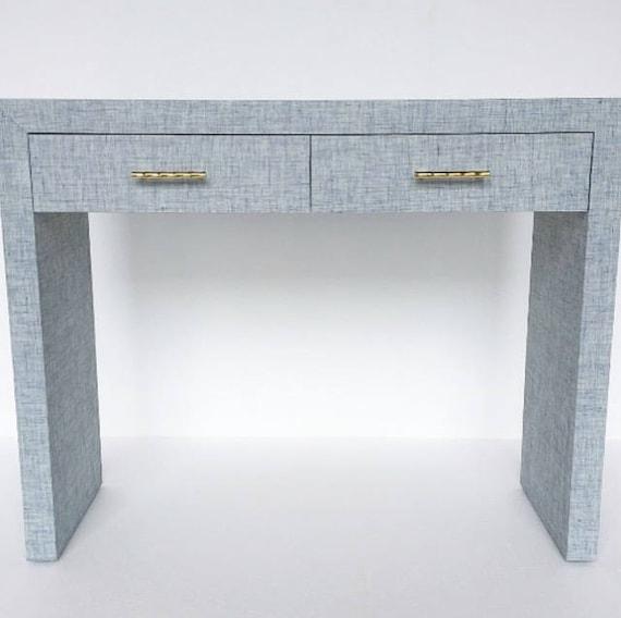 Custom Grasscloth Parson S Waterfall Desk Table Custom