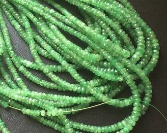 Tsavorite Faceted Rondelle Beads, Green Tsavorite Beads, Tsavorite Necklace, 2.5-4mm 16 Inch - AGA129