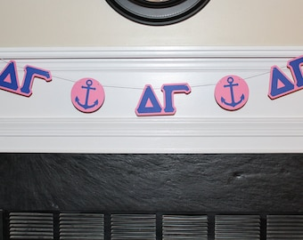 Delta Gamma Banner, Delta Gamma Party Supplies, Delta Gamma Party Decorations, Delta Gamma Sorority, Rush Decorations, Delta Gamma DG Anchor