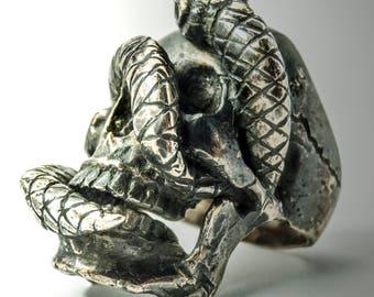 Snake Skull Ring
