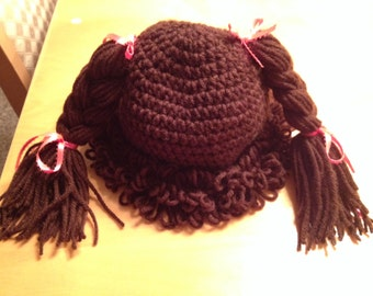 Cabbage Patch Baby Hat, Cap, Cabbage Patch Hat, Little Girls Hat, Girls Hat, Baby Hat,