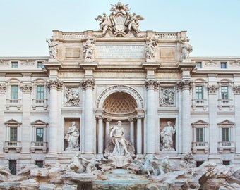 "Trevi Fountain, Rome Print, Rome Italy Wall Art, Roman Architecture, Rome Photography, Fine Art Photography ""Three Coins"""