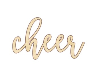 Cheer - Cheer Sign - Cheer Wood Sign - Cheer Decor - 160224