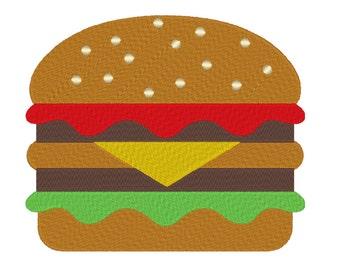 Hamburger Machine Embroidery Design