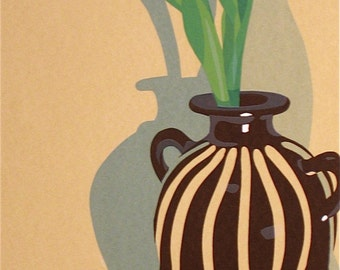 Peruvian Vase, limited edition serigraph
