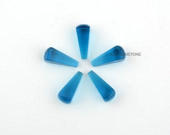 Wholesale London Blue Quartz Gemstones-Hand Cut Loose Gemstone-Square Cone Shape 7x17 MM Gemstone for Jewelry-5Pcs