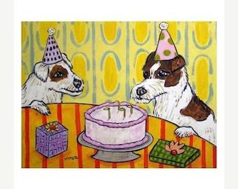 25% off Jack Russell Terrier, jack russell art, jack russell print,  print, modern dog art, folk art, birthday gift, wall art