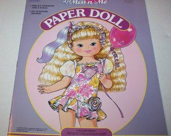 Golden Books 1992 Lil Miss 'n Me Paper Doll Book Unused Uncut Vintage