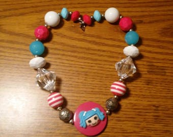 Lalaloopsy Mittens Chunky Bubblegum Bead Necklace