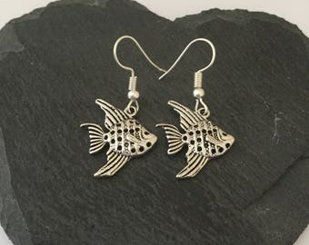 Fish Earrings / Fish Jewellery / beach jewellery / sea life jewellery / animal lover gift