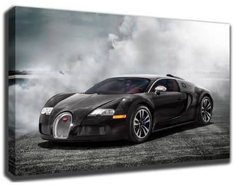 Wonderful BUGATTI VEYRON Canvas/Poster Wall Art Pin Up HD Gallery Wrap Room Decor  Home Decor
