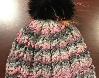 Adult size Mini plaits winter hat