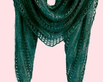PDF Spring Scarf Shawl Knit Pattern